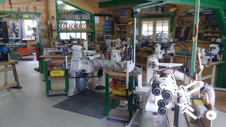 Photo de l'atelier coin Usinage sur bois