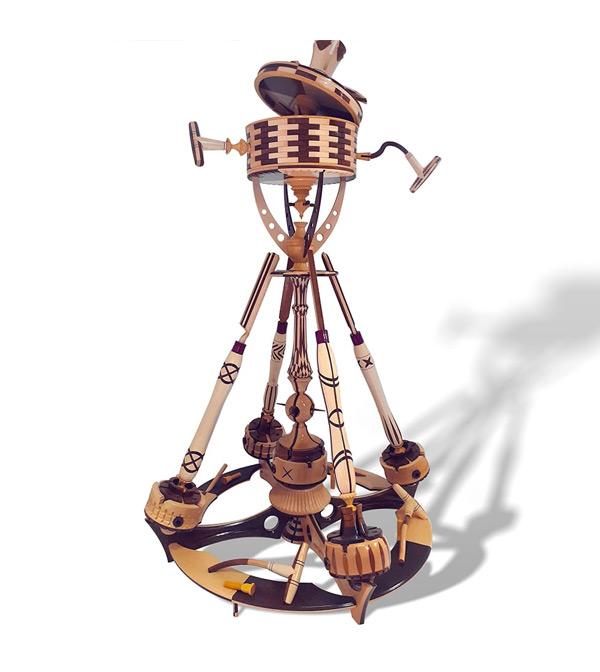 Le drône du tournage - tourneur sur bois