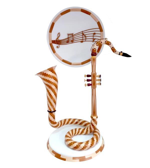 Saxophone en bois - tourneur sur bois