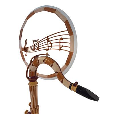 Saxophone en bois