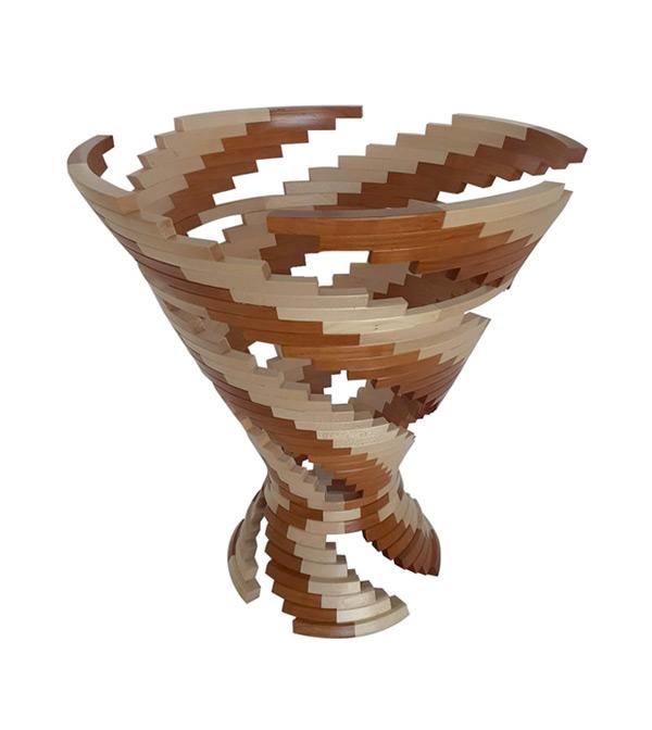 Vase en segmenté - tourneur sur bois