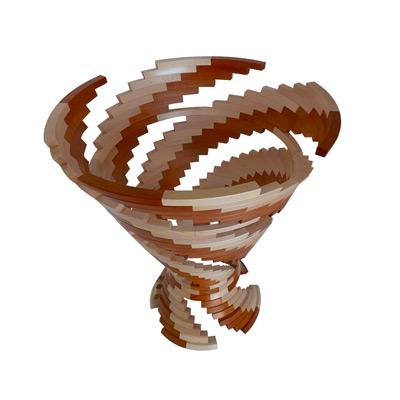 Vase en segmenté en bois